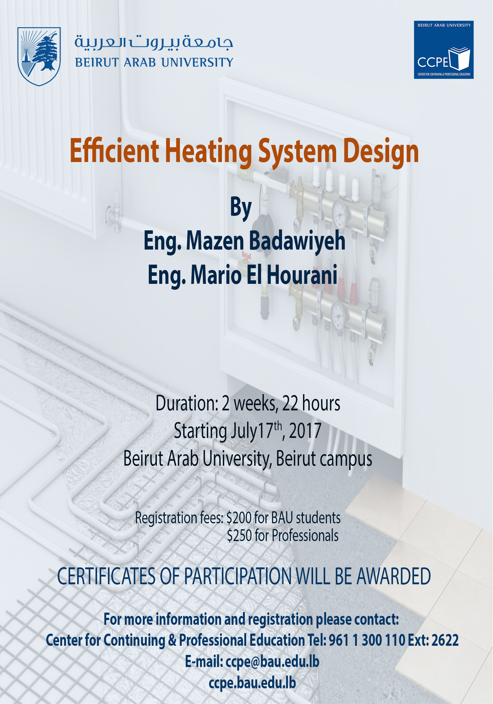 CCPE » Efficient Heating System Design